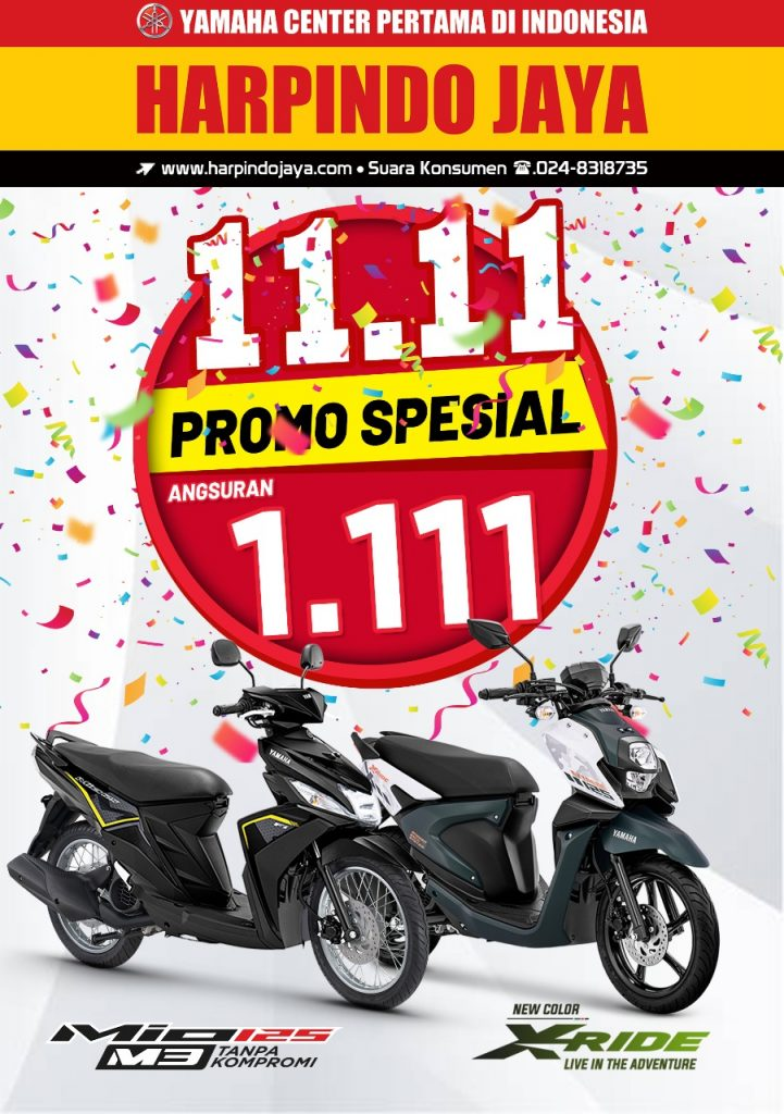 Promo 11: 11 Mio & X-Ride Diskon Akhir Tahun