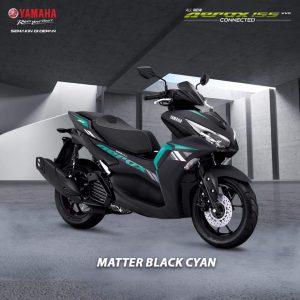 aerox black cyan