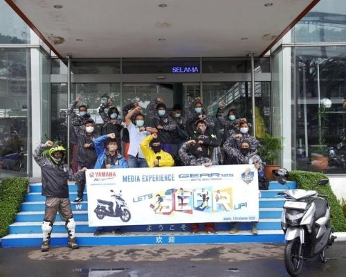 RIDING PERDANA, YAMAHA GEAR 125 BERSAMA AWAK MEDIA