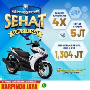 Promo Yamaha Aerox potongan 4x angsuran